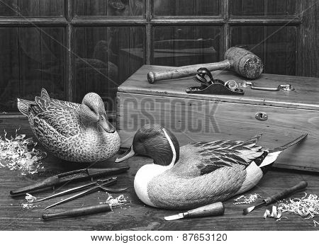 Old Wooden Ducks.