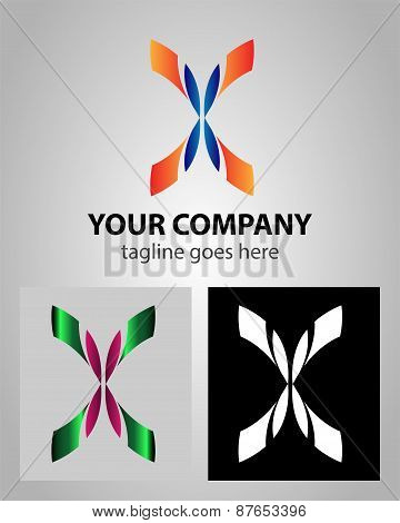 Letter X logo icon design template elements abstract symbol