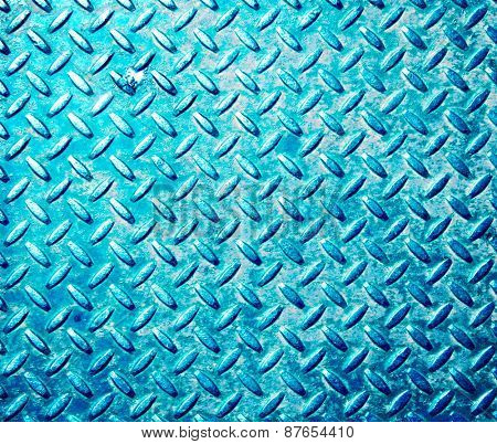 image of diamond plate metal texture background