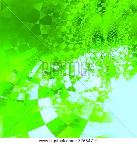 Green geometric pattern. Modern abstract illustration. Grunge background design. Creative texture.