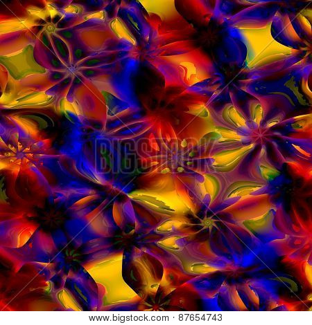Colorful abstract art background. Computer generated floral fractal pattern. Digital illustration.