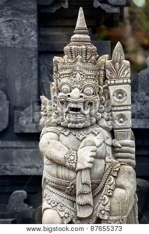Religious sculpture in temple Bali, Indonesia