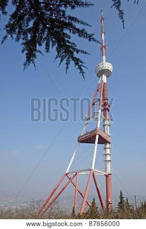Tbilisi TV tower on Mount Mtatsminda