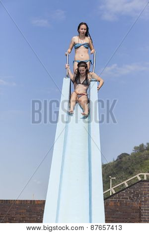 Girls Swimming Pool Slide