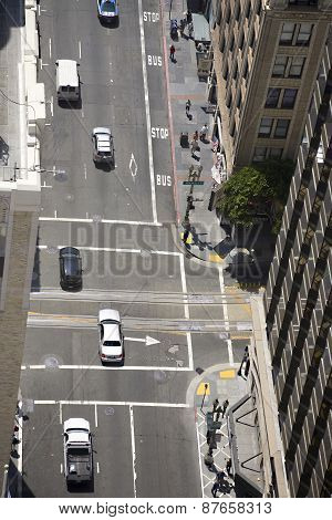 Iew From The Rooftop In San Francisco