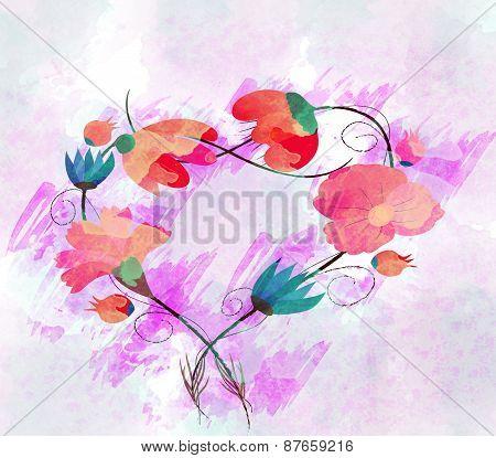 Watercolor Painting, Flower