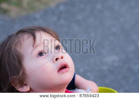 Boy Staring Into Sky