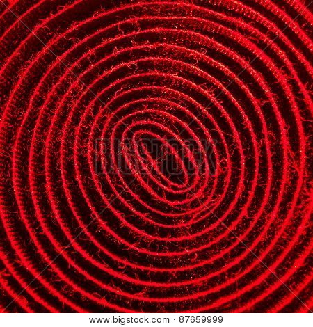 red illuminated spiral of velcro band