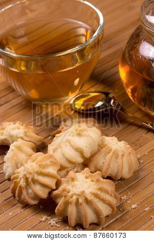 Fresh Delicious Cookies And Tea