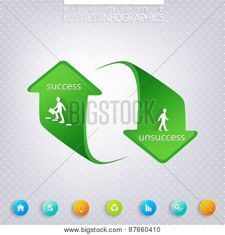 Modern template infographic , Success and Unsuccess  . Can be used for workflow layout, diagram, cha