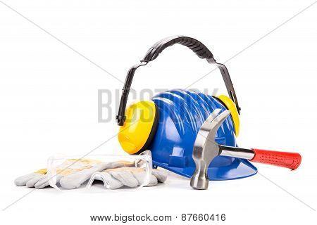 Construction tools close up.