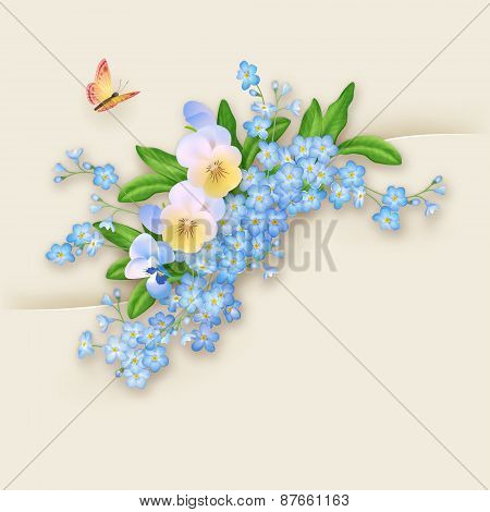 Flowers Forget-me-not Greeting Card