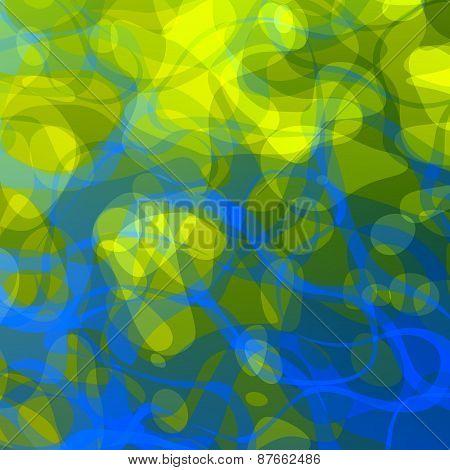 Creative green blue art background. Modern abstract illustration design. Creativity concept.