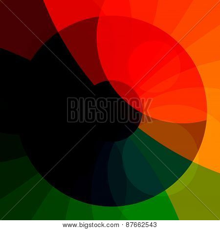 Colourful abstract rainbow background. Red green orange colors. Modern illustration design.