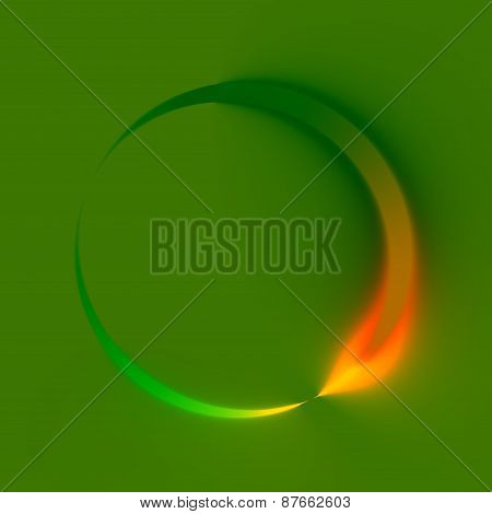Abstract green spinner. Clockwise direction. Looping refresh logo. Web icon design. Illustration.