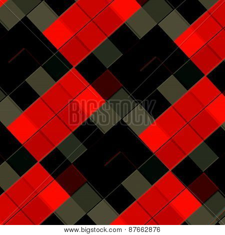 Red grey black tiles pattern. Abstract texture design. Geometric art illustration. Elements.