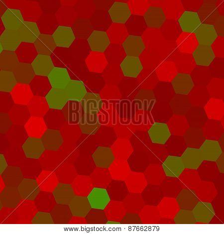 Abstract geometric background. Modern pattern. Digital art. Green red illustration design. Image.