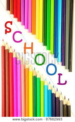 Colorful pencils, close-up