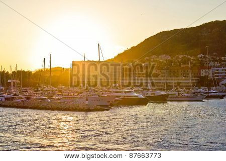 Split Yachting Marina Golden Sunset View