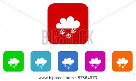 snow vector icon set