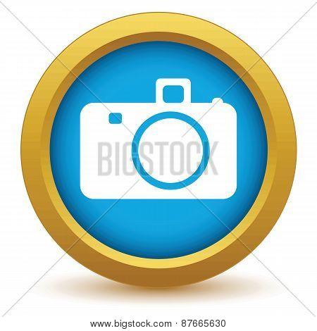 Gold camera icon