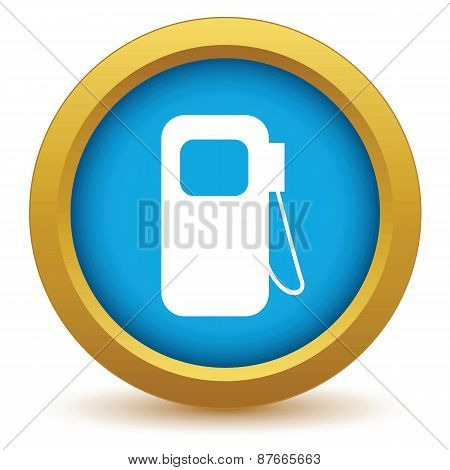 Gold gas station icon