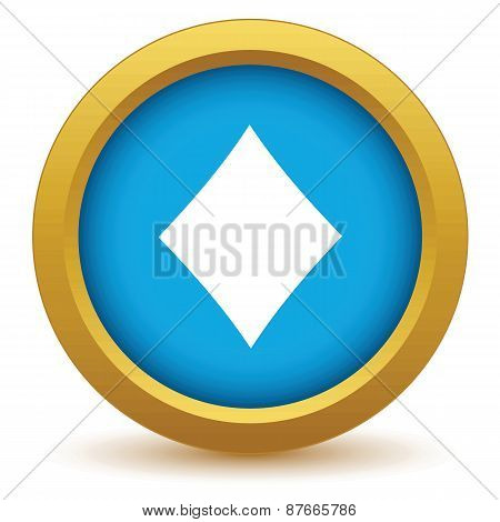 Gold diamonds card icon