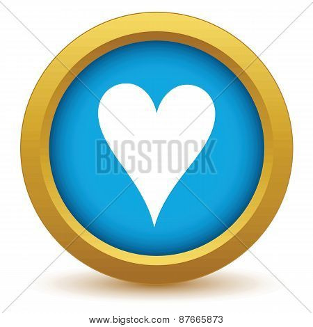 Gold heart card icon