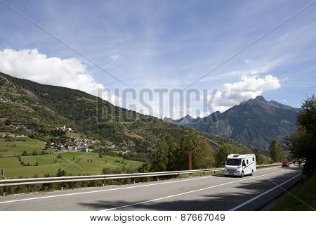 Caravan In The Alps
