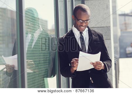 Portrait Of Realtor With Papers