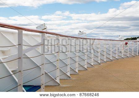 Bulkhead And Railing Around Bow Of Ship