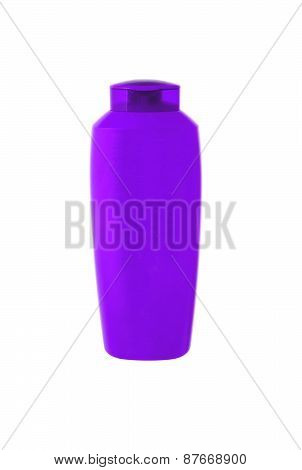 Violet Shampoo Bottle Isolated On White