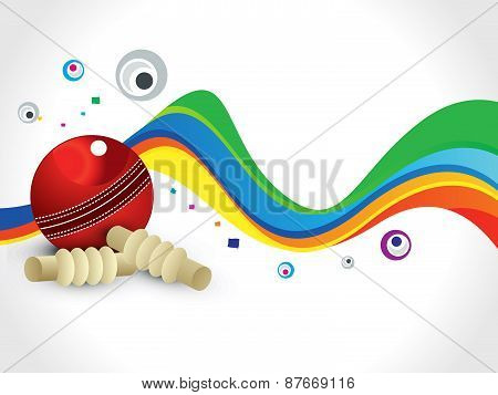 Abstract Colorful Cricket Wave Background