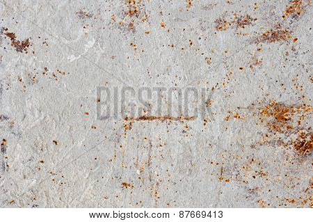 metal rust surface of concrete mixer