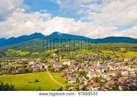 Village high up in austrian Alps