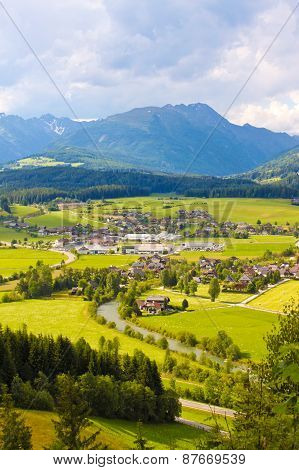 Mountain Meadows And Villages
