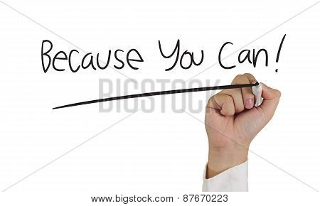 Because You Can