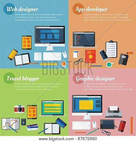 Icon Collection set for Designer, Developer and Blog