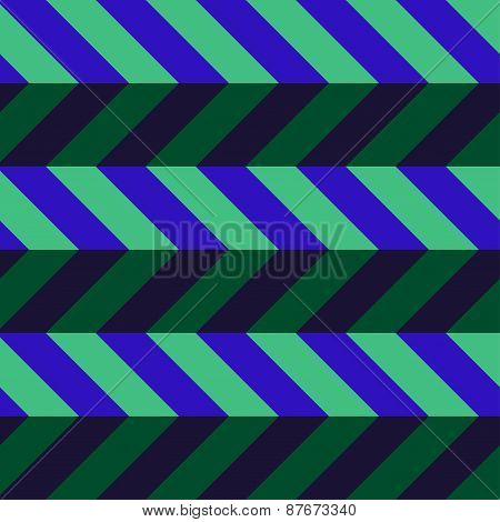 Abstract Geometric Background In Green And Blue