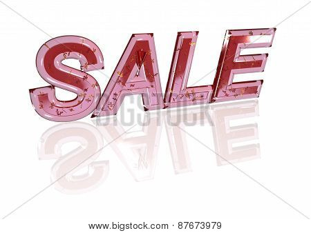 Word Sale Made From Percentage Symbols.