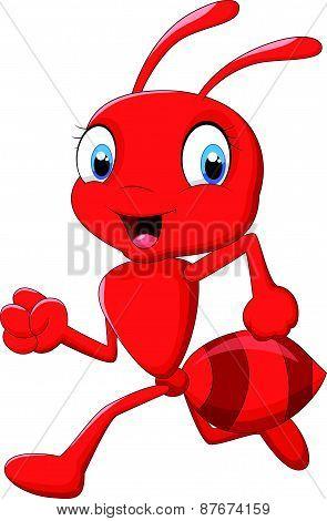 Cartoon ant running