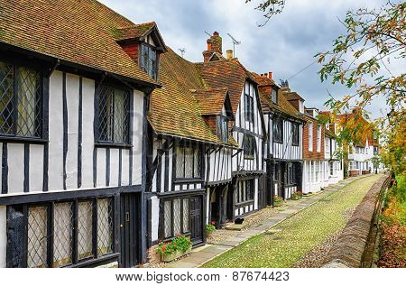 Street of quaint houses in Rye.