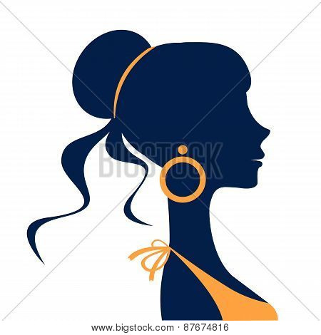 Beautiful  elegant woman silhouette