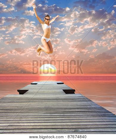 Over a Jetty Flying Wild