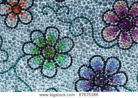 Multicolored Beautiful Crystal background texture texture reflection design blue gem crystal edge we