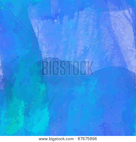 Blue Paint Watercolor Seamless