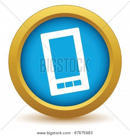Gold smartphone icon