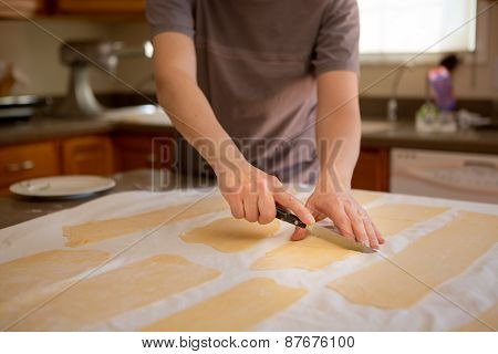 Man Preparing Fresh Homemade Pasta