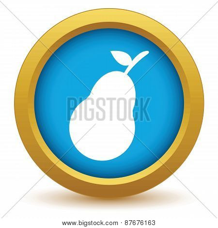 Gold pear icon