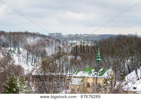 Church in the park of Lviv